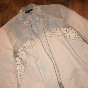 White Alberto Makali asymmetrical zip jacket